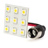 1142-PCB-xWHP9: 1142 LED Bulb - Single Intensity Dual Contact 9 High Power SMD LED PCB Lamp