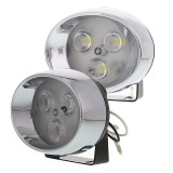 DRL-CW3-R: High Power LED Auxiliary Light Kit - Round Set