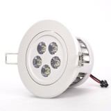 RLFAD-xW5W-P45: 5 Watt LED Recessed Light Fixture - Aimable and Dimmable