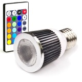 E27S-RGB5W-45-DI: LED PAR16 RGB Spot Bulb (remote sold separately)